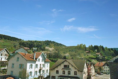 Location Vosges - Le village au printemps